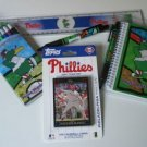 Philadelphia Phillies Kids Gift Asst. School Supplies w/ 2007 Topps Team Set