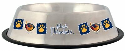 Atlanta Thrashers Pet Dog 32oz Stainless Steel Bowl Gift