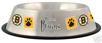 Boston Bruins Pet Dog 32oz Stainless Steel Bowl Gift