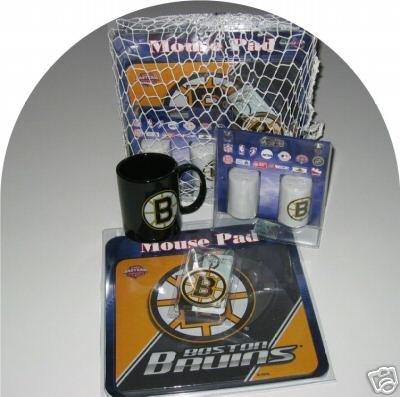 Boston Bruins Hockey 4pc Gift Net Basket