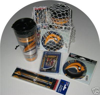 Buffalo Sabres 4pc Hockey Gift Net Basket Travel Mug