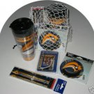 Buffalo Sabres 4pc Hockey Gift Net Basket Travel Mug