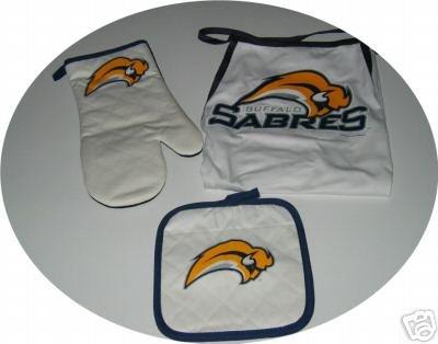 Buffalo Sabres Tailgate BBQ 3pc Set Mitt Apron Gift