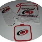 Carolina Hurricanes Tailgate BBQ 3pc Set Mitt Apron Gift