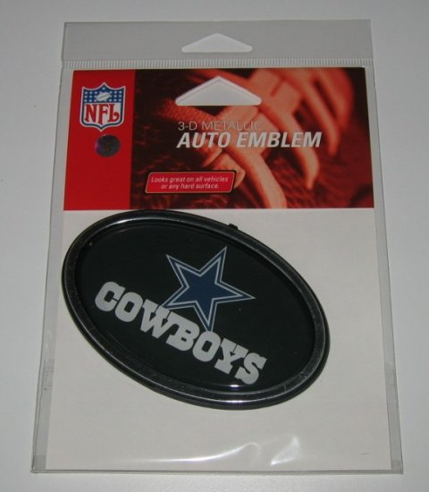 Dallas Cowboys 3-D Color Chrome Auto Car Emblem Gift