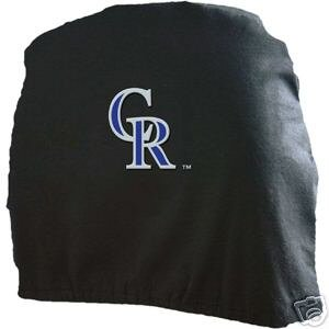 Colorado Rockies Auto Car Head Rest Covers Set Gift