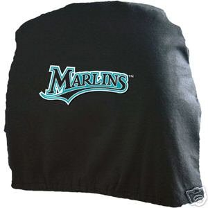 Florida Marlins Auto Car Head Rest Covers Set Gift