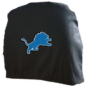 Detroit Lions Auto Car Head Rest Covers Set Gift