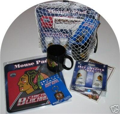 Chicago Blackhawks 5pc Hockey Gift Net Basket