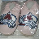 Colorado Avalanche PINK Leather Baby Shoes Booties 6-12 Months Gift