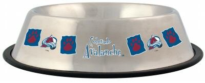 Colorado Avalanche 32oz Stainless Steel Pet Dog Food Water Bowl Gift