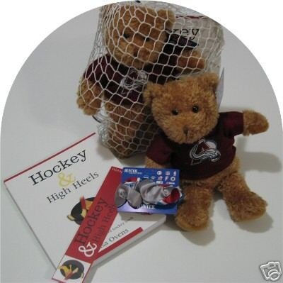 Colorado Avalanche 4pc Women's Hockey Gift Net Basket