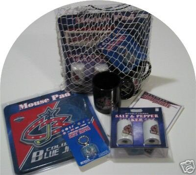 Columbus Blue Jackets Hockey Gift Net Basket