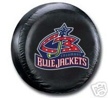 Columbus Blue Jackets Black Spare Car Tire Cover Gift