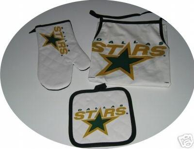 Dallas Stars Tailgate BBQ 3pc Set Apron Mitt Gift