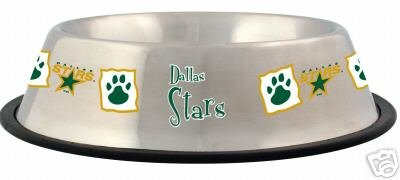 Dallas Stars 32oz Stainless Steel Pet Dog Food Water Bowl Gift