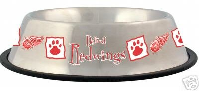 Detroit Red Wings 32oz Stainless Steel Pet Dog Food Water Bowl Gift