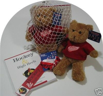 Detroit Red Wings Women's 4pc Hockey Gift Net Basket