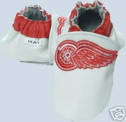 Detroit Red Wings Leather Baby Shoes Booties ALL SIZES Gift