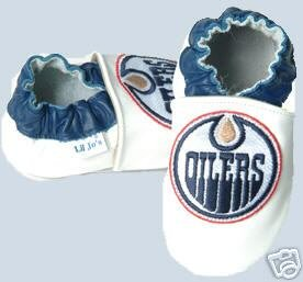 Edmonton Oilers Leather Baby Shoes Booties Gift