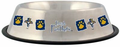 Florida Panthers 32oz Stainless Steel Pet Dog Food Water Bowl Gift