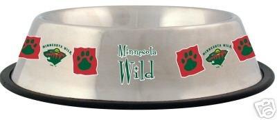 Minnesota Wild 32oz Stainless Steel Pet Dog Food Water Bowl Gift