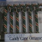 Minnesota Wild Candy Cane Christmas Tree Ornament Set Gift
