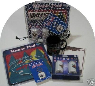 Minnesota Wild 5pc Hockey Gift Net Basket