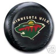 Minnesota Wild Black Spare Car Tire Cover Gift