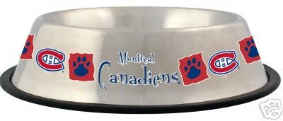 Montreal Canadiens 32oz Stainless Steel Pet Dog Food Water Bowl Gift