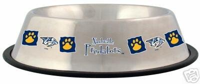 Nashville Predators 32oz Stainless Steel Pet Dog Food Water Bowl Gift
