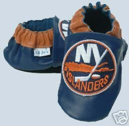 New York Islanders Leather Baby Shoes Booties 0-6 Months Gift