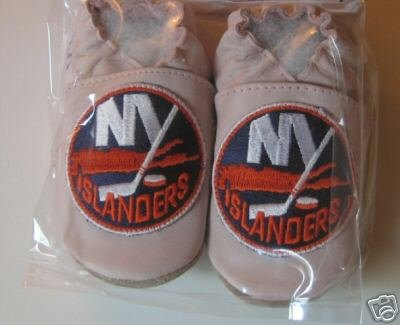 New York Islanders PINK Leather Baby Shoes Booties 0-6 months