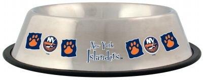 New York Islanders 32oz Stainless Steel Pet Dog Food Water Bowl Gift