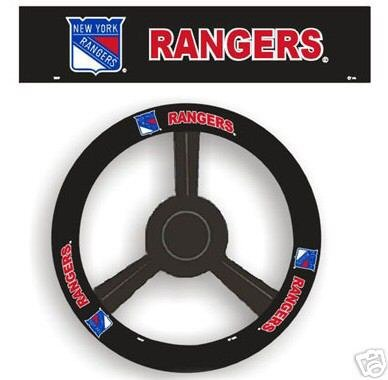 New York Rangers Leather Steering Wheel Cover Car Gift