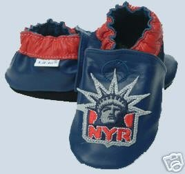 New York Rangers Leather Baby Shoes Booties 0-6 Months Gift