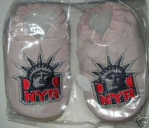 New York Rangers PINK Leather Baby Shoes Booties ALL SIZES Gift