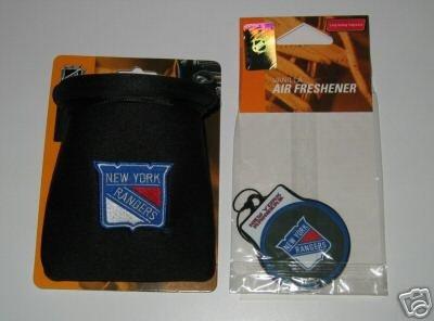 New York Rangers Auto Car Pouch Organizer & Air Freshener Set Gift