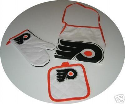 Philadelphia Flyers 3pc BBQ Tailgate Set Apron Mitt Gift