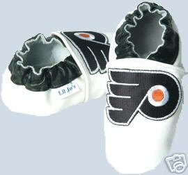 Philadelphia Flyers Leather Baby Shoes Booties 6-12 months Gift