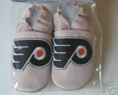Philadelphia Flyers PINK Leather Baby Shoes Booties 6-12 Months Gift