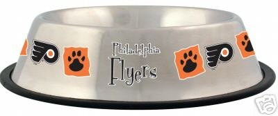 Philadelphia Flyers 32oz Stainless Steel Pet Dog Food Water Bowl Gift