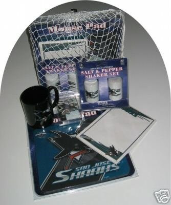 San Jose Sharks 5pc Hockey Gift Net Basket
