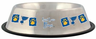 St. Louis Blues 32oz Stainless Steel Pet Dog Food Water Bowl Gift