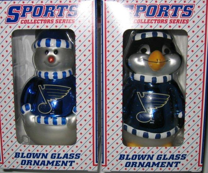 St. Louis Blues Snowman & Penguin Christmas Tree Ornament Set Gift