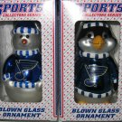 St. Louis Blues Snowman & Penguin Christmas Tree Ornament Set Gift