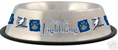 Tampa Bay Lightning 32oz Stainless Steel Pet Dog Food Water Bowl Gift