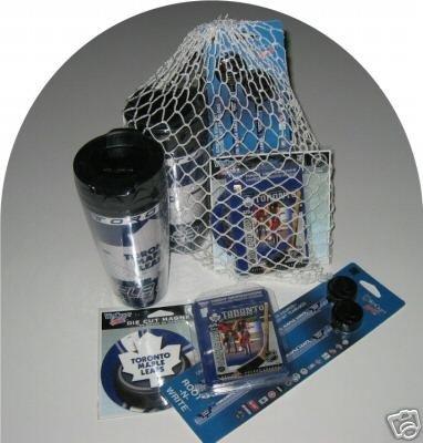 Toronto Maple Leafs 4pc Hockey Gift Net Basket