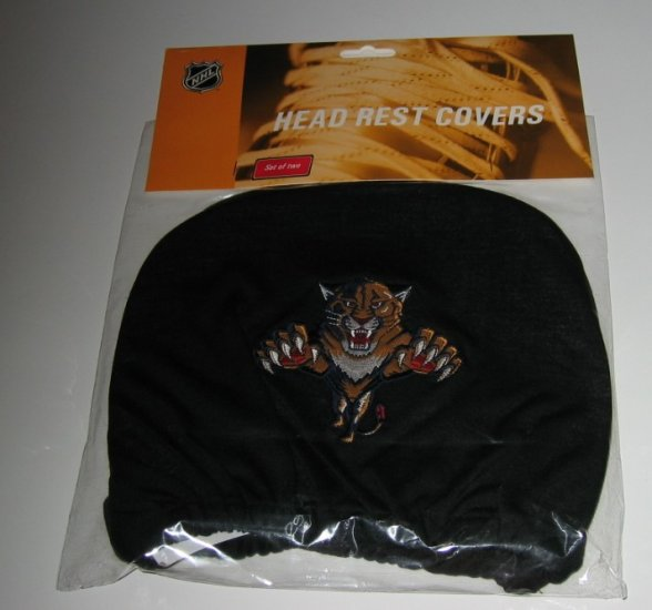Florida Panthers Car Auto Head Rest Covers Set Gift