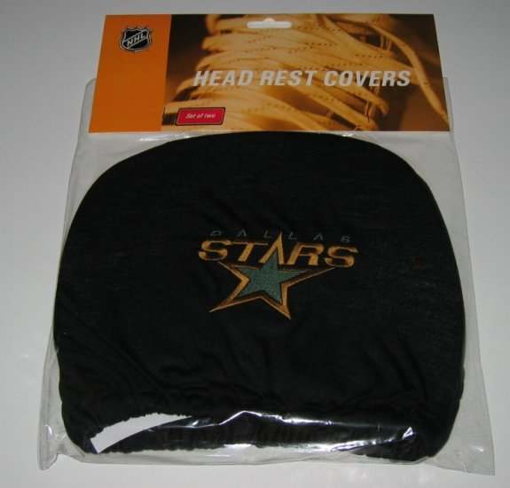 Dallas Stars Car Auto Head Rest Covers Set Gift